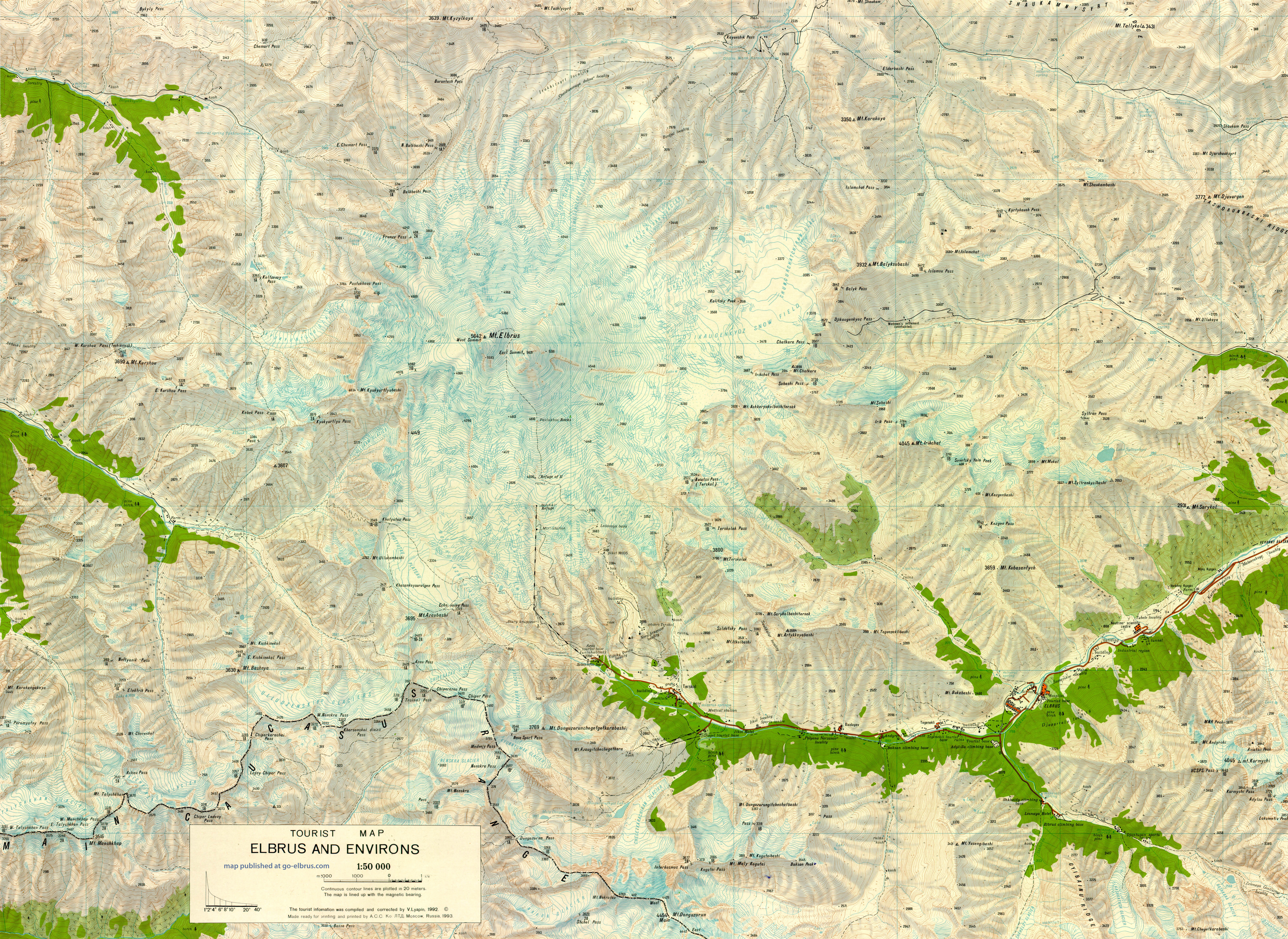 Maps Satellite Images GPS Coordinates - Mt elbrus map